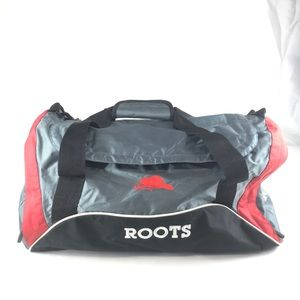 ROOTS Grey/Red/Black Duffle Bag